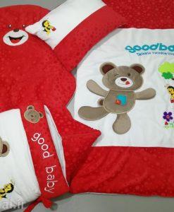 سرویس خواب مخمل 4 تیکه خرس و زنبور کد 8774
