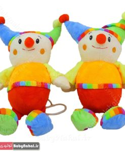 عروسک نخ کش موزیکال دلقک سایز ۳۰ سانتیمتر کد ۱۲۶۹
