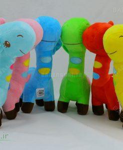 عروسک زرافه رنگی 25 سانتی کد 3749