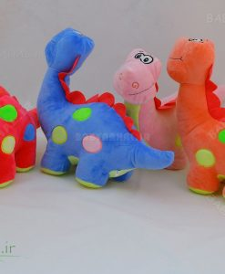 عروسک دایناسور رنگی 30 سانتی کد 4010