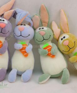 عروسك بوقي خرگوش و هويچ نانو 25 سانتي كد 4083