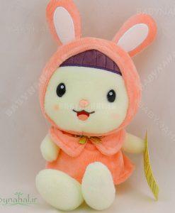 عروسک خرگوش پاپیون طلائی 30 سانتی کد 3750