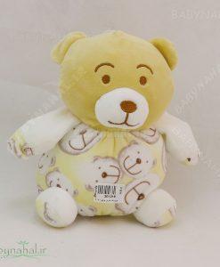 عروسك خرس چاپ دار 20 سانتي كد 4091