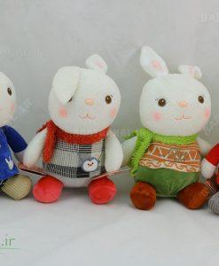 عروسک خرگوش نشسته چند مدل 20 سانتی کد 3903