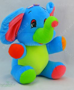 عروسک رنگارنگ فیل 30 سانتی کد3752