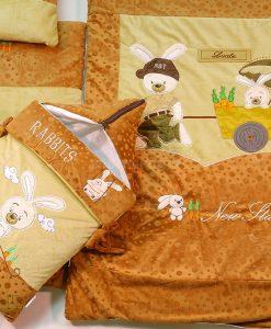 سرويس خواب مخمل خرگوش و گاري كد 3927
