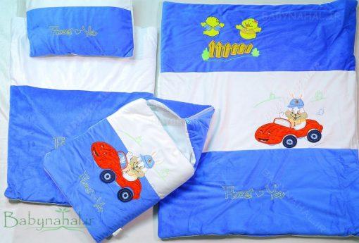 سرویس خواب مخمل خرگوش ماشین سوار کد 3237
