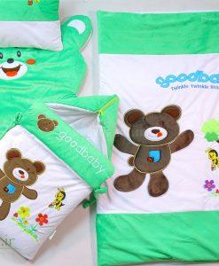 سرویس خواب مخمل 4 تیکه خرس و زنبور کد 2132