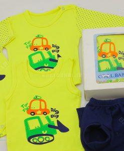5 تيكه پنبه چاپي Cool Baby سايز 1.2.3 كد 4005