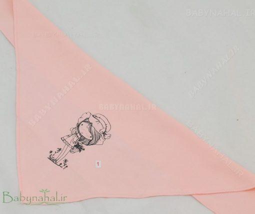 نيكان پنبه روسري دخترانه صورتي كد 3183
