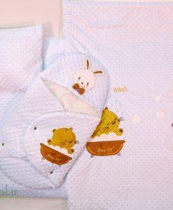 سرويس خواب مخمل خرگوش و گربه كد 3235