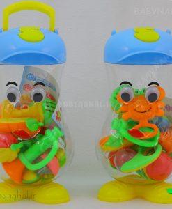 ست جغجغه و دندانگير Baby Toy كد 4832
