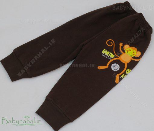 شلوار میمون پنبه حراجی سایز 1-2-3 کد 7208