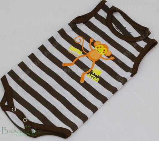 زیردکمه دار رکابی میمون پنبه حراجی سایز 1-2-3 کد 7208