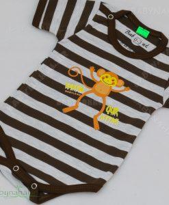 زیردکمه دار کوتاه میمون پنبه حراجی سایز 1-2-3 کد 7208