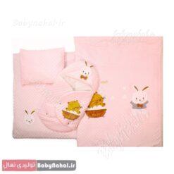 سرویس خواب مخمل خرگوش و گربه کد 3235