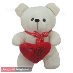 عروسک خرس و قلب 20سانتی Love کد 5107