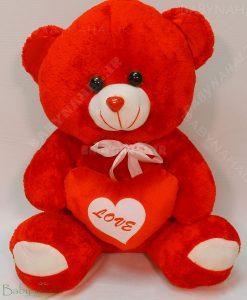 عروسك خرس قلب به دست 50 سانتي كد 5109