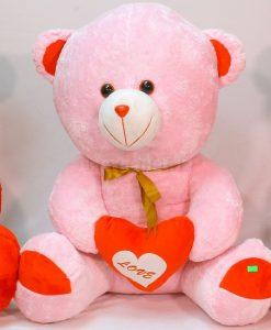 عروسك خرس قلب به دست 70 سانتي كد 5281