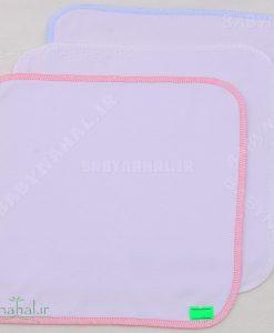 دستمال سفید دوخت ژور کد 5695