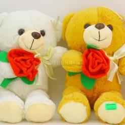عروسك خرس گل به دست 25 سانتي كد 5755