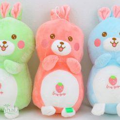عروسك خرگوش كپل توت فرنگي 25 سانتي كد 5738