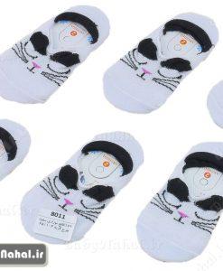 143 كالج نوزادي سفيد طرح گربه (BB) كد 8011