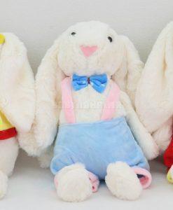 عروسك خرگوش جلي كت لباس دار 40 سانتي كد 3754