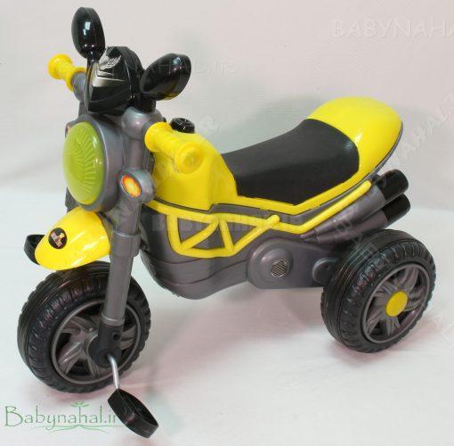 سه چرخه موزيكال و چراغدار ركسانا ارابه (زرد) كد 6275