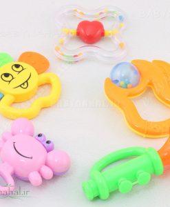 ست جغجغه سلفوني 5 عددي Baby Toys كد 6585