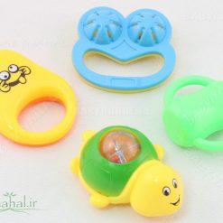 ست جغجغه سلفوني 4 عددي Baby Toys كد 6584