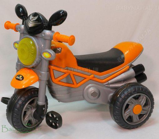 سه چرخه موزيكال و چراغدار ركسانا ارابه (نارنجي) كد 6279