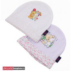 کلاه گرد سفید طرحدار (BQ) کد ۷۱۴۰