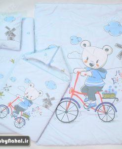 سرويس خواب تترون چاپي خرس و دوچرخه Carte's كد 7310