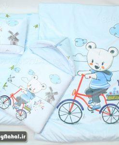 سرويس خواب مخمل خرس و دوچرخه Carte's كد 7312
