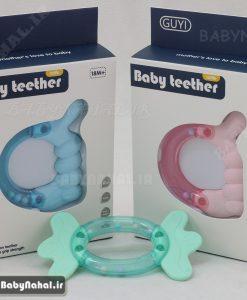 062 دندانگير جغجغه اي Baby Teether كد 7383