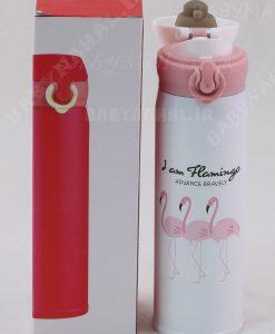 فلاكس استيل 500ML قفل دار چاپي flamingo كد 7476