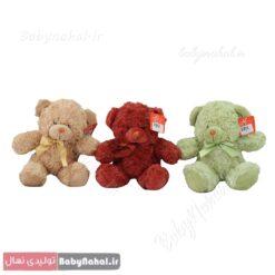 عروسک خرس پاپیون دار 20 سانتی کد 7838 (1)
