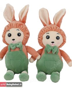 عروسك خرگوش لباسدار 30 سانتي كد 7769
