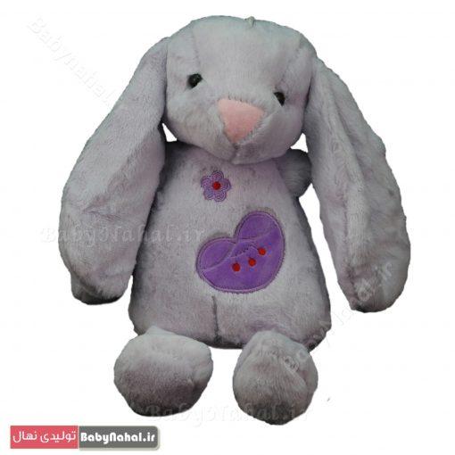 عروسك خرگوش گلدوزي قلب 30 سانتي كد 7772