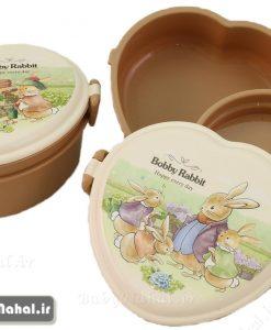 ظرف غذا سه تيكه قلبي Rabbit كد 7741