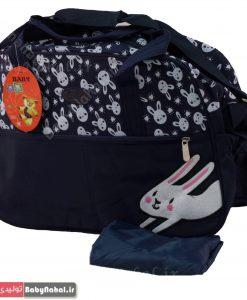 ساك لوازم خارجي گلدوزي خرگوش كد 3330ساك لوازم خارجي گلدوزي خرگوش كد 3330