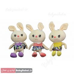 عروسك آويز خرگوش لباس دار 25 سانتي كد8680