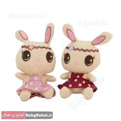 عروسك خرگوش تل دار 30 سانتي كد 8685