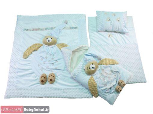 سرویس خواب مخمل عروسکی خرس (AQ) کد 9021 (9)