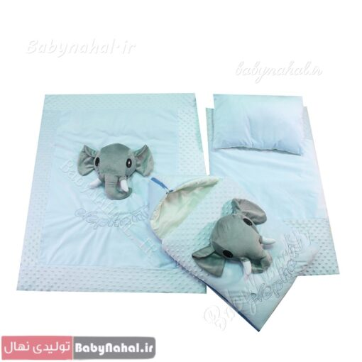 سرويس خواب مخمل عروسكي فيل (AQ) كد 9022