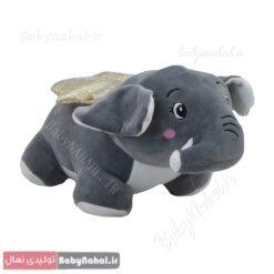عروسک فیل پا کوتاه 35 سانتی کد 9126